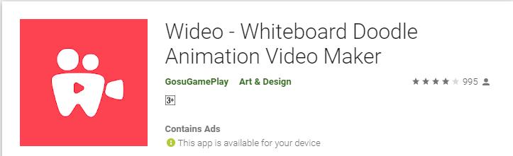 wideo doodle video maker